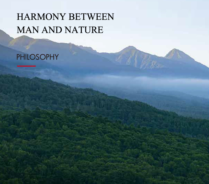 HARMONY BETWEEN MAN AND NATURE